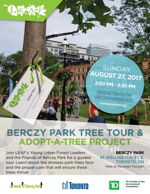 2017 - Berczy Park Tree Tour - August 27